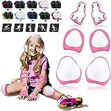 BDPP Kids Beschermende Gear Set, Kids Knie Pads Set-Knie Pad Elleboog Pols Pads Verstelbare 6 in 1 Veiligheid voor Kinderen S