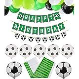 PIXHOTUL Decoraciones de Fiesta de Fútbol Happy Birthday Football Pancartas y 47 Piezas de Globos Temáticos de Fútbol para Ni