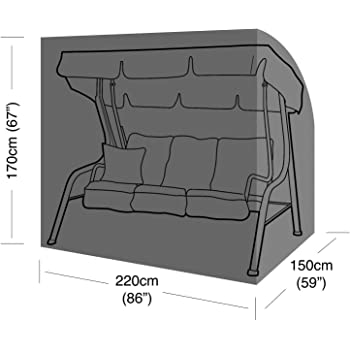 Garden Patio Furniture Cover 3 Seater Swing Seat Swinging Hammock Chair WS21N