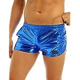 Freebily Men's Shiny Metallic Boxer Shorts Trunks Lounge Underwear Clubwear