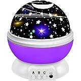 ZIIFEEL Proyector Estrellas,Luz Nocturna Infantil,Proyector de Estrellas,Proyector Estrellas Techo,Luz Nocturna 360° Rotación