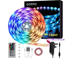 Led Strip Lights with Remote 5m IP65 Waterproof 44 Key IR Remote 5050 RGB 12V Led Lights with 20 Colors 12 Modes for Bedroom