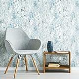RoomMates RMK11279WP Marble Seas Metallic Blue Peel and Stick Wallpaper