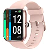 LETSCOM Smart Watch for Women Men, 1.69 Inch Touch Screen Smartwatch, Fitness Trackers with Heart Rate Monitor, Alexa Built-I