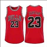 Rojo - Al aire libre Baloncesto Hombres Casual Michael Jersey Baloncesto Jordan Jersey #23 Repetible al aire libre Chicago Ca