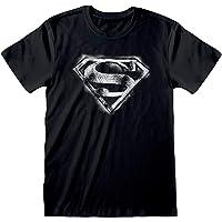 DC Comics Superman Classic Logo Men's T-Shirt | Official Merchandise | S-4XL, Justice League Superhero Crew Neck Graphic…