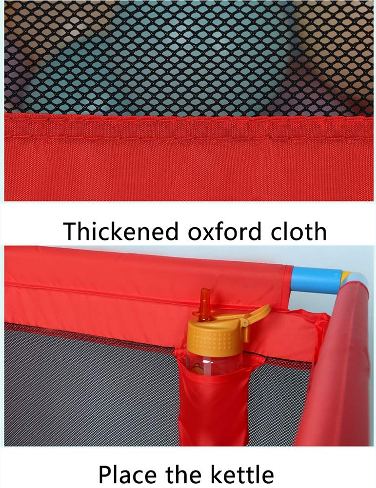 Red Playpen -baby Shooting Fence, Toddler Twins Safety Game Playard, Children Security Fence with Basketball Hoop (Size : Playpen) Playpens  4