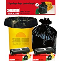 Shalimar Premium OXO - Biodegradable Garbage Bags (Extra Large) Size 76 cm x 94 cm 4 Rolls (60 Bags) (Dustbin Bag/Trash…