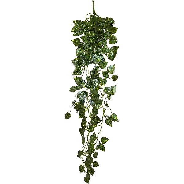 90 x 40 x 10 cm Green AKORD Artificiale Falso Appeso pianta Foglie Tessuto