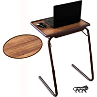 Bi3 Table Adjustable Strong Multipurpose Portable Laptop Table, Study Table, Kids Table, Office Table, Dinning Table (Alder Brown)