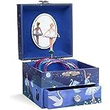 JewelKeeper - Carillon portagioielli per Bambina con Ballerina Rotante, cassetto Estraibile ed Un Design Glitterato - Melodia