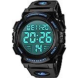 Orologi, orologio digitale da uomo, cronografo sportivo impermeabile da esterno 50M per uomo con retroilluminazione a LED e v
