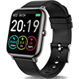 """Rinsmola Smart Watch for Android Phones, Fitness Tracker 1.4"""" Full Touch Screen, Smartwatch for Men Women Heart Rate Monitor,"""