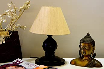 Tucasa LG-200 Conical Shade Table Lamp (Khadi)