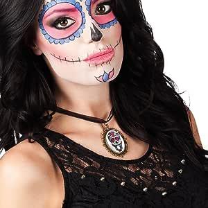 Totenkopf Kette /& Anhänger Dia de los Muertos Halskette Tag der Toten Halloween