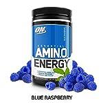 OPTIMUM NUTRITION ESSENTIAL AMINO ENERGY, Blue Raspberry, Keto Friendly Preworkout and Essential Amino Acids , 30...