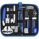 LiRiQi Kit Riparazione Orologi,185 pezzi Tool Kit Professionale di Riparazione Orologi, Attrezzi di Apertura Orologi e kit di