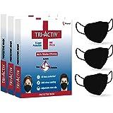 Tri-Activ 6 Layer Protective Face Masks, PM2.5 / N95 Tested as per NIOSH standard, Anti-Virus Coating, 99.5% Filtration Effic
