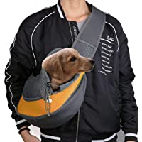 Pets Empire Pet Carrier Hand Free Sling Puppy Carry Bag Small Puppy Cat Travel Carrier with Breathable Mesh Pouch for…