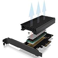 ICY BOX PCI Express Karte, M.2 NVMe SSD zu PCIe 3.0 Adapter, Kühler, LED Beleuchtung, M-Key, 2230, 2242, 2260, 2280…