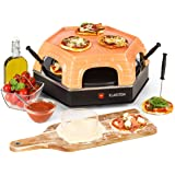 Klarstein Capricciosa - Four à pizza, 1500W, Dôme terracotta, Maintien au chaud, Sans huile, Cuisson rapide, 6 pelles à pizza