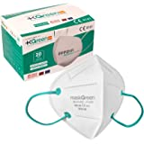 Maskgreen - Mascarilla FFP2 Homologada - Caja 20 Mascarillas FFP2 CE - Fabricadas en España - Alta Protección 97% - Libres de