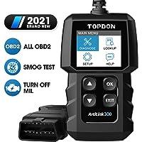 TOPDON OBD2 Diagnosegerät AL300 Auto Universal Fahrzeug Fehlercodeleser mit vollen OBD2-Funktionen, Lesen und Löschen…