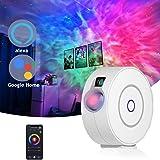 Smart Galaxy-projektor kompatibel med Alexa & Google Home, röststyrd stjärna nattlampa projektor med 3D-nebula, himmelsbelysn