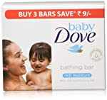 Baby Dove Rich Moisture Bar, 75 g (Pack of 3)