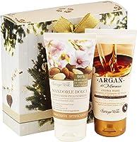 """Bottega Verde, Confezione Regalo Donna, con Crema Mani""""Argan del Marocco"""" (75 ml) e Crema Mani""""Mandorle Dolci"""" (75 ml)"""