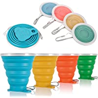ME.FAN Silicone Collapsible Travel Cup- Silicone Folding Camping Cup with Lids-Expandable Drinking Cup Set - Portable…