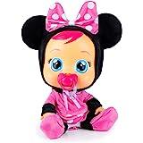 Cry Babies Minnie Bambola interattiva che Piange Lacrime Vere, con Ciuccio e Pigiama de Minnie Disney, Giochi e Bambola per B