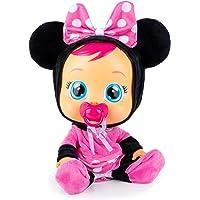 Cry Babies Minnie Bambola interattiva che Piange Lacrime Vere, con Ciuccio e Pigiama de Minnie Disney, Giochi e Bambola…