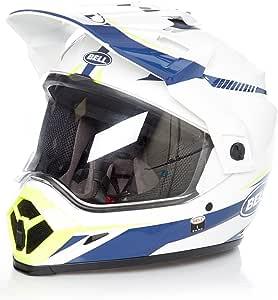 Bell Helmets Mx 9 Adventure Mips Taschenlampe Weiß Blau Gelb Klein Auto