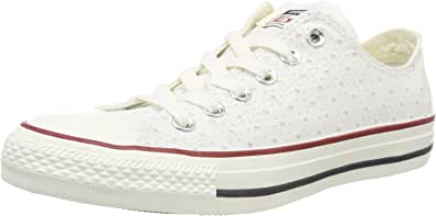 Converse Ctas Ox White/Garnet/Athletic Navy, Scarpe da Ginnastica Unisex – Adulto