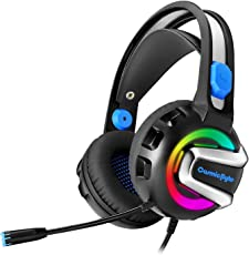 Cosmic Byte G3300 Saturn Rings Gaming Headphone with Mic, 7 Color RGB LED (Blue)