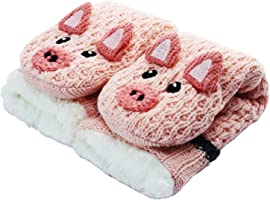 Slipper Socks 3D Novelty Cute Animal Knitted Extra Warm Slippers Super Soft Winter Wool