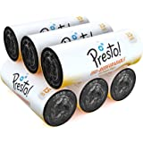 Amazon Brand - Presto! Oxo-Biodegradable Garbage Bags, Large (24 x 32 inches) - 15 bags/roll (Pack of 6, Black)