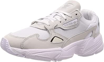adidas Falcon W, Sneakers Basses Femme, Blanc (Ftwbla/Ftwbla/Balcri 000), 38 EU