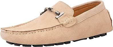 Yaer Uomo Elegante Mocassini Slip On Penny Loafers Scarpe di Guida Casuale Scamosciato Pelle Pantofola 39-49