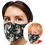 Reusable Face Mask GENERISE Adjustable Face Mask x1 - Breathable Washable Face Mask - Unisex (Floral)