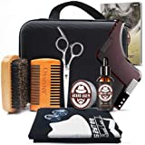 Oxsaytee Beard Grooming Kit, Beard Care Set with Beard Oil, Beard Balm, Beard Brush, Beard Comb, Beard Bib, Beard Shaping Too