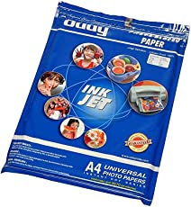 RedClub Presents Oddy A4 Size Self Adhesive Coated Glossy Paper - 130 GSM - Pack of 03 Packets of 50 Sheets Each