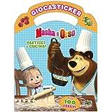 Pasticci in cucina. Masha e Orso. Giocasticker. Con adesivi