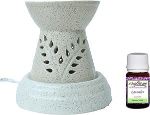 Craftuno Ceramic Aroma Diffuser (13.96 cm x 13.96 cm x 13.96 cm, Cream)