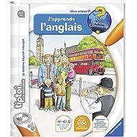 Ravensburger - Livre d'aventure interactif tiptoi - J'apprends l'anglais - Jeux électroniques éducatifs sans écran et en…