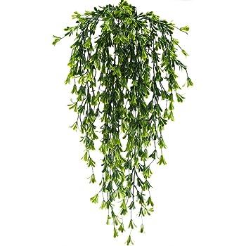 Mihounion Kunstliche Pflanzen Fur Draussen Hangend Hangepflanzen