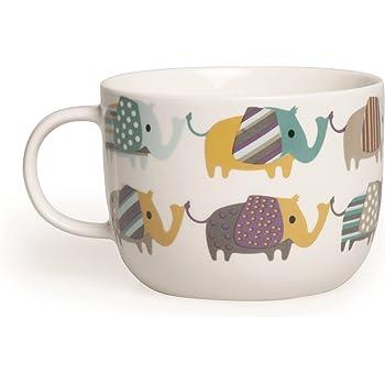 Lauren Billingham Dotty Elephants Design Bone China Tasse: Amazon.de ...