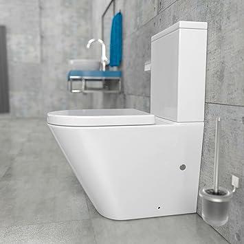 Brandneu KeraBad Randlose Stand-WC Kombination mit Spülkasten WC-Sitz aus  EP31
