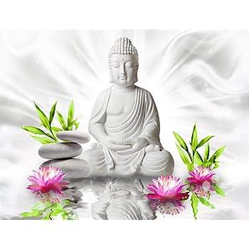 Fototapete buddha lilie violett vlies wand tapete wohnzimmer schlafzimmer b ro flur dekoration - Schlafzimmer buddha ...